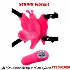 String vibrant point g triple action